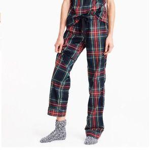 J. Crew Cotton Poplin Pajama Pant in Stewart Plaid